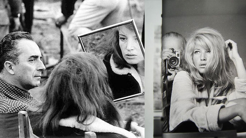 Michelangelo Antonioni is a cinematic master of seduction. Shown here with the breathtaking Monica Vitti.