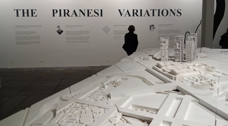 The Piranesi Variations provided Common Ground for three prestigious architectural groups to explore. Each of them presented their own re-visioning of Piranesi's plan (done in 1762) for Campo Marzo in Rome. the participants included: Eisenman Architects, students from Yale University, Jeffrey Kipnis with his colleagues and students of the Ohio State University, and Belgian architecture practice, Dogma.