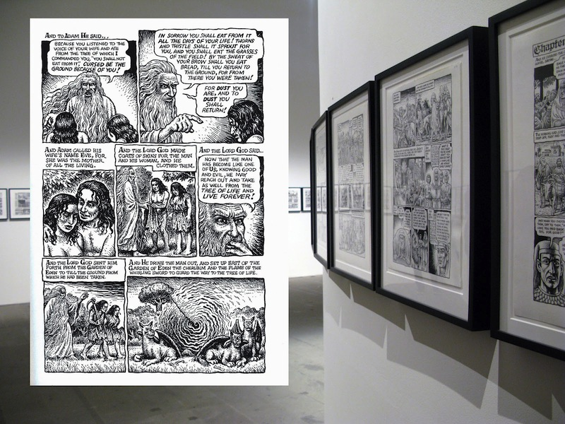 R. Crumb's Genesis project illustrates the Bible with his signature comic style but something in the intensity and focus of the project plumbs the depths of artistic obsession.