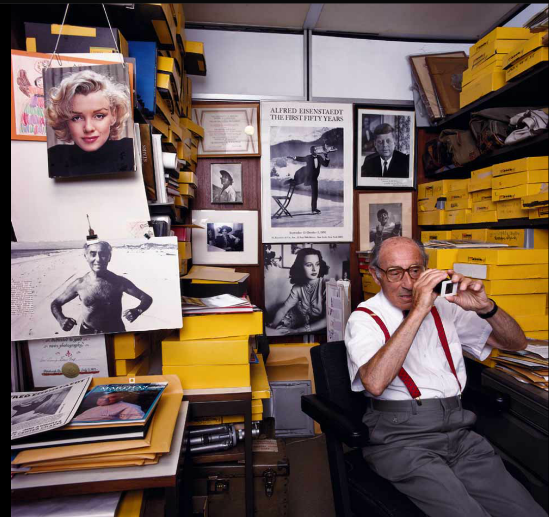 Portrait of legendary LIFE magazine photographer Alfred Eisensdaedt.