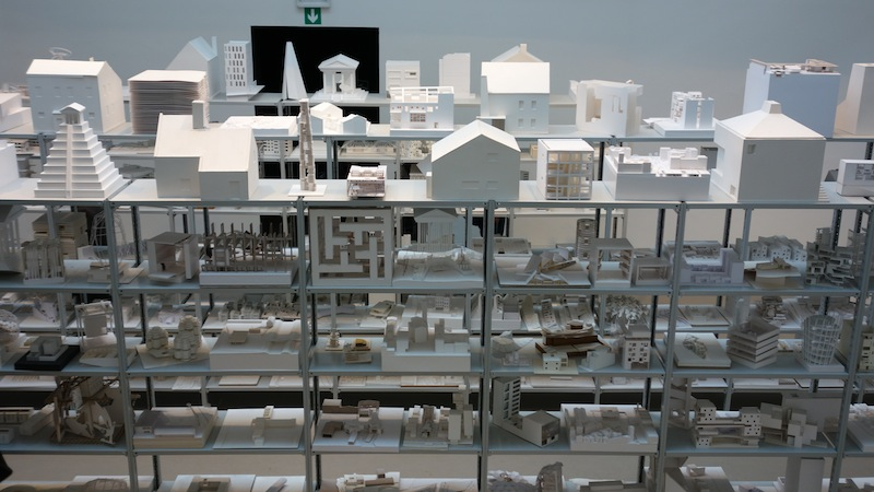 One room in the main pavilion of the Biennale was devoted to architectural models by students from all over the world. The title: 40,000 Hours.
