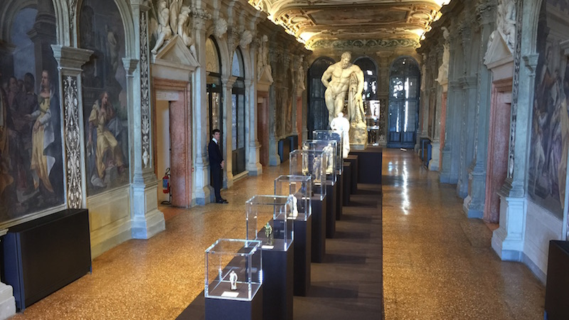 The centerpiece of the Portable Classic exhibition at the PRADA Foundation inside the Palazzo Corner in Venice. The timeless form of the colossal Farnese Hercules reproduced in throughout time. One size does not fit all.