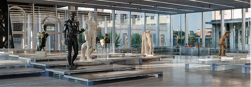Leave it to the PRADA Foundation to create perhaps the most elegant display of Classical sculpture ever to be put on exhibition.