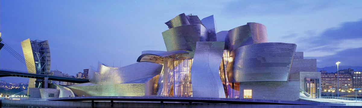 Frank Gehry's Guggenheim Museum (1997) is the iconic symbol of destination cultural architecture. Photo courtesy Guggenheim, Bilbao