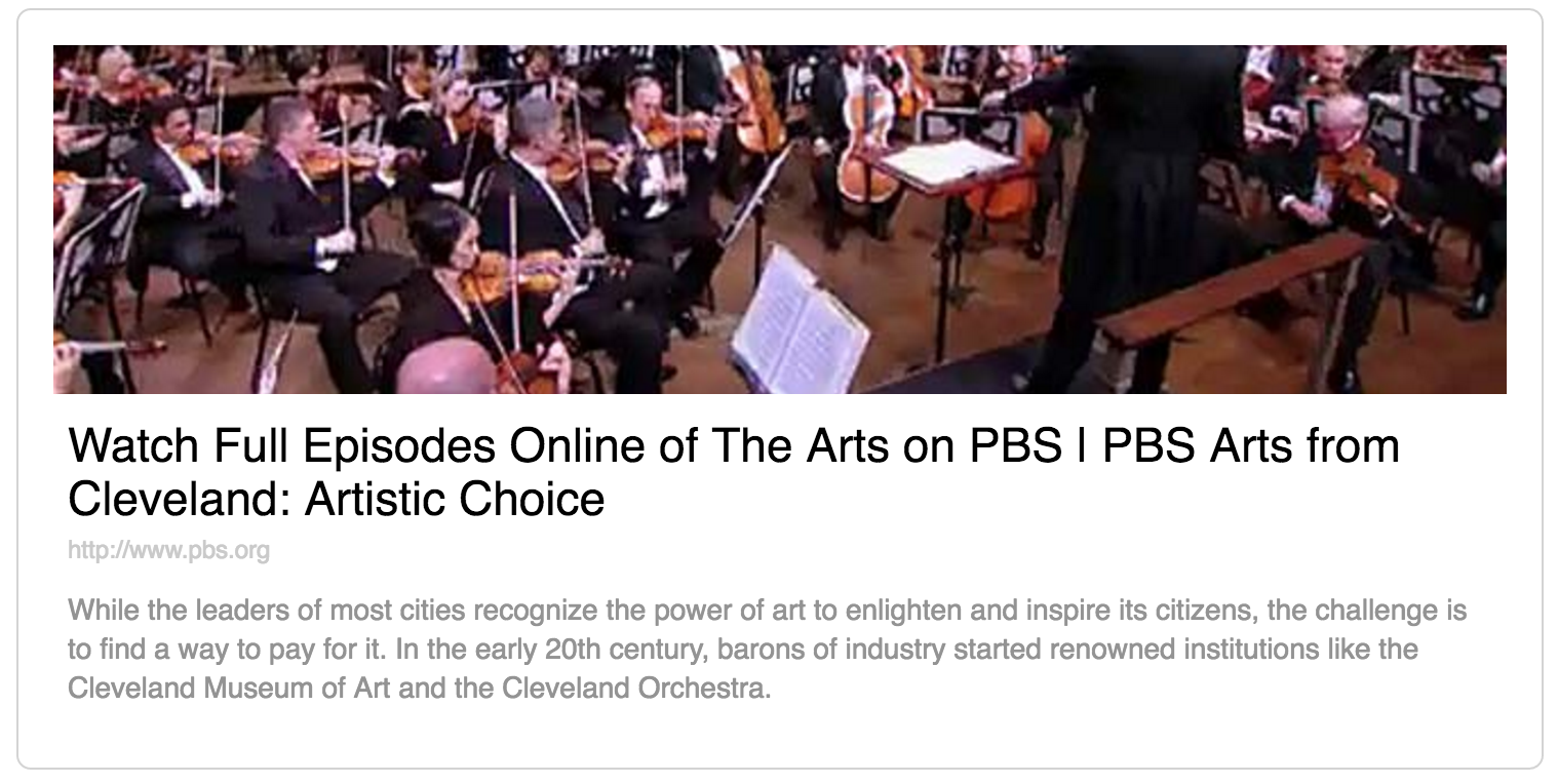 PBS Link to Artistic Choice