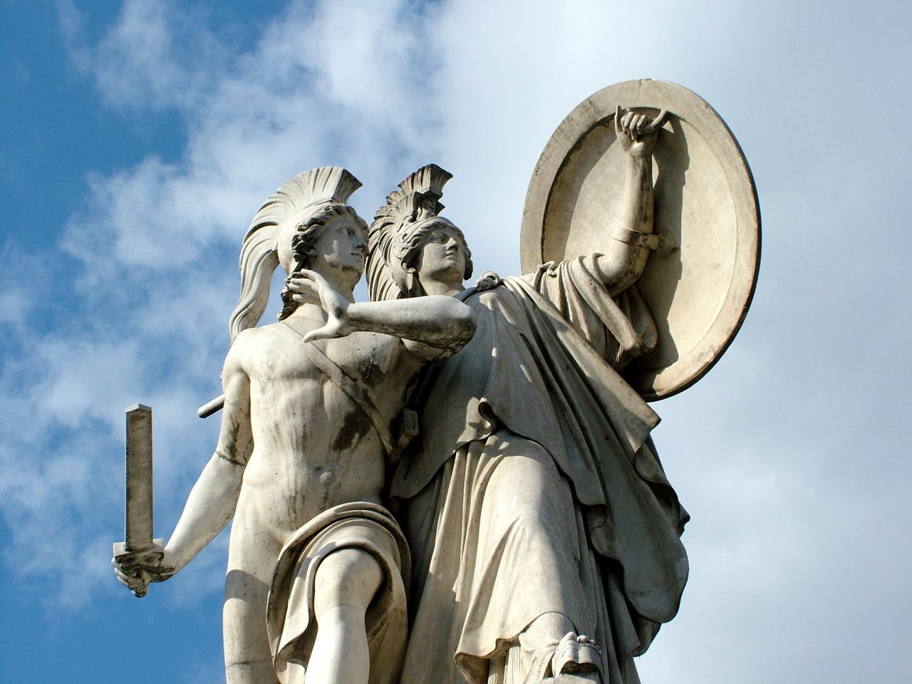 Diomedes and Athena, prepare for battle Schlossbrücke, Berlin
