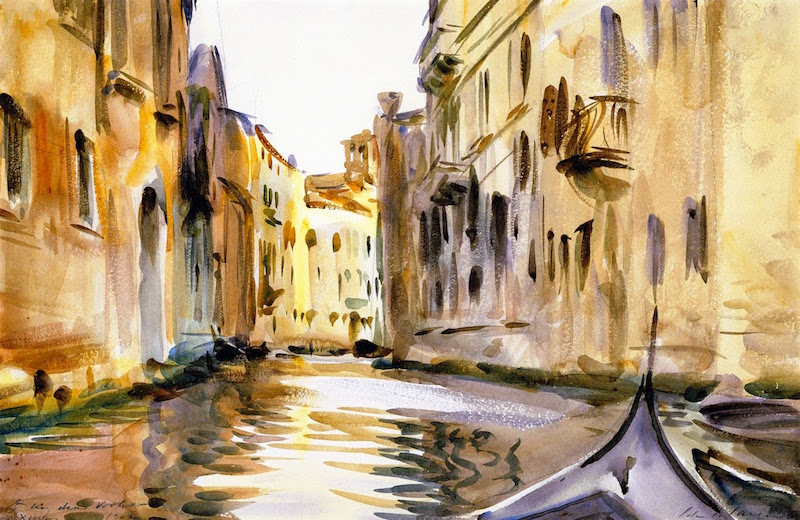 Sargent view of canal