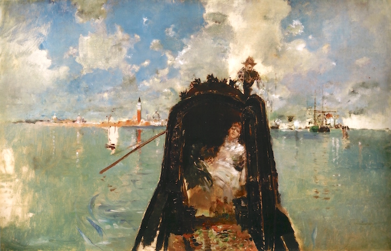 Woman in Gondola by Robert Frederick Blum (1887)