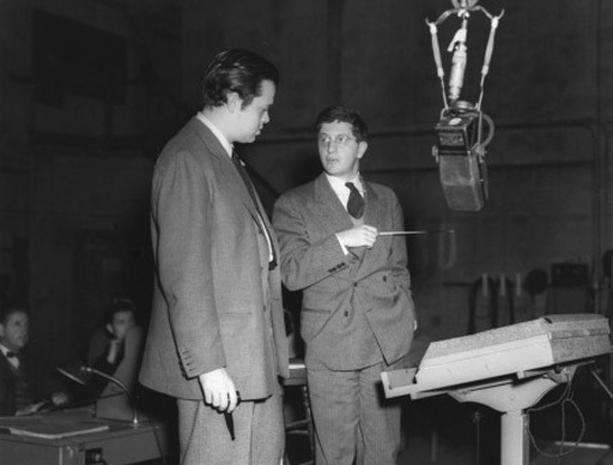 Orson Welles with the incomparable composer Bernard Herrmann