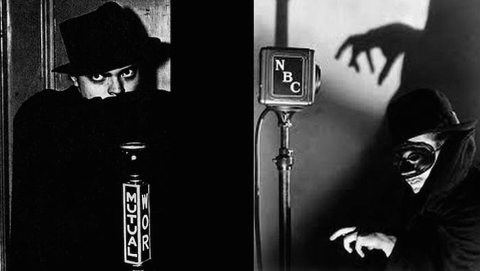 "Orson the radio star shown here in publicity photos for the hugely popular pulp detective series ""The Shadow."""