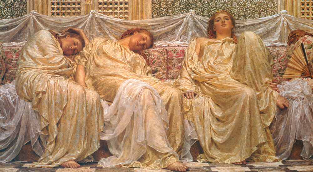 Dreamers by Albert Joseph Moore, 1882, oil on canvas, courtesy of the Birmingham Museum and Art Gallery, U.K.